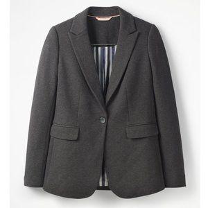 BODEN Jersey Longerline Gray Blazer 2R